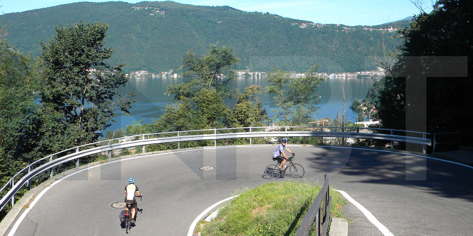 gentle cycling experience Lake Lugano