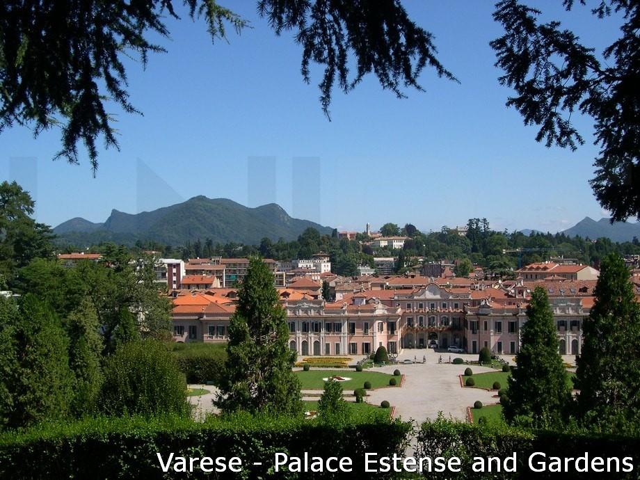 Tourist attractions Map: Lake Maggiore, Lugano, Varese