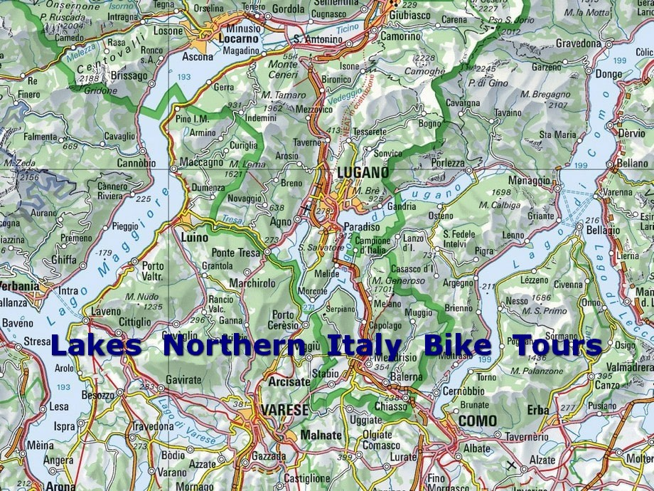 Map Of Italy Lakes Region.Cycling Resources For Riding Across Northern Italian Lakes